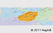 Political Panoramic Map of Betania, lighten