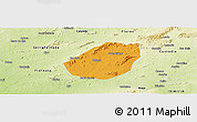 Political Panoramic Map of Betania, physical outside