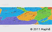 Political Panoramic Map of Betania