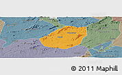 Political Panoramic Map of Betania, semi-desaturated