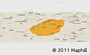 Political Panoramic Map of Betania, shaded relief outside