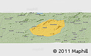 Savanna Style Panoramic Map of Betania