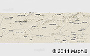 Shaded Relief Panoramic Map of Betania