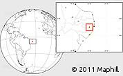 Blank Location Map of Bezerros