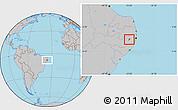 Gray Location Map of Bezerros