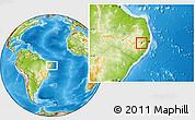 Physical Location Map of Bezerros