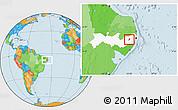 Political Location Map of Bezerros, highlighted parent region