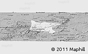 Gray Panoramic Map of Brejo da Madre D