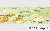 Physical Panoramic Map of Brejo da Madre D