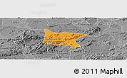 Political Panoramic Map of Brejo da Madre D, desaturated