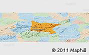 Political Panoramic Map of Brejo da Madre D, lighten
