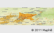Political Panoramic Map of Brejo da Madre D, physical outside