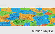 Political Panoramic Map of Brejo da Madre D