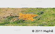 Political Panoramic Map of Brejo da Madre D, satellite outside