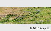 Satellite Panoramic Map of Brejo da Madre D