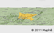 Savanna Style Panoramic Map of Brejo da Madre D