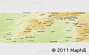 Physical Panoramic Map of Buique