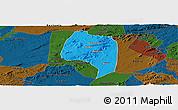 Political Panoramic Map of Buique, darken