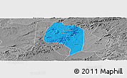 Political Panoramic Map of Buique, desaturated