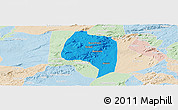 Political Panoramic Map of Buique, lighten