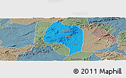 Political Panoramic Map of Buique, semi-desaturated
