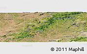 Satellite Panoramic Map of Buique
