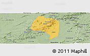 Savanna Style Panoramic Map of Buique
