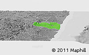 Political Panoramic Map of Cabo, desaturated