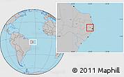 Gray Location Map of Carpina