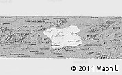 Gray Panoramic Map of Caruaru