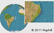 Satellite Location Map of Cortes