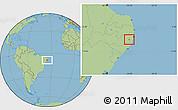 Savanna Style Location Map of Cortes