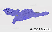Political Panoramic Map of Floresta, single color outside