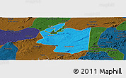 Political Panoramic Map of Ibimirim, darken