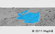 Political Panoramic Map of Ibimirim, desaturated