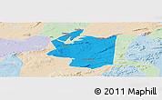 Political Panoramic Map of Ibimirim, lighten