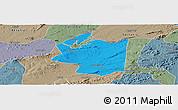 Political Panoramic Map of Ibimirim, semi-desaturated