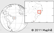 Blank Location Map of Ibirajuba