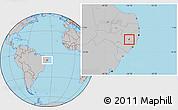Gray Location Map of Ibirajuba