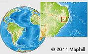 Physical Location Map of Ibirajuba