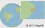 Savanna Style Location Map of Ibirajuba