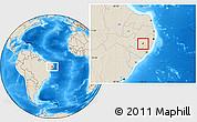 Shaded Relief Location Map of Ibirajuba