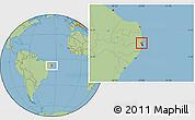 Savanna Style Location Map of Igaracu
