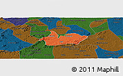 Political Panoramic Map of Iguaraci, darken