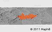 Political Panoramic Map of Iguaraci, desaturated