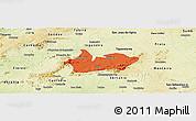 Political Panoramic Map of Iguaraci, physical outside