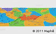 Political Panoramic Map of Iguaraci