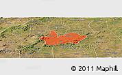 Political Panoramic Map of Iguaraci, satellite outside