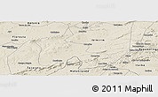 Shaded Relief Panoramic Map of Inaja