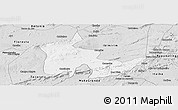 Silver Style Panoramic Map of Inaja